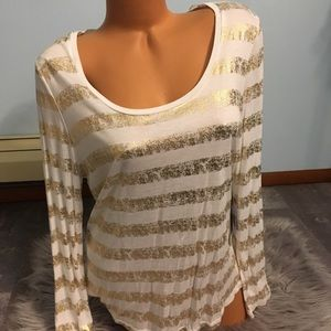 Jennifer Lopez striped long Sleeve Large